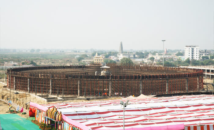 New Sadhana Hall Under Construction